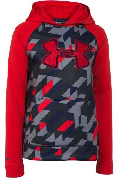 Boys' UA Storm Armour® Fleece Printed Big Logo Hoodie