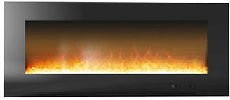 Cambridge Metropolitan 56 In. Wall-Mount Electronic Fireplace with Flat Panel and Crystal Rocks $349 thestylecure.com