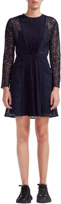 Maje Repine Crepe & Lace Dress