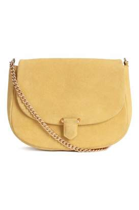 H&M Suede Shoulder Bag - Yellow - Women