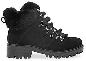 KENDALL + KYLIE Women's Edison Faux Fur-Lined Suede Ankle Hiker Boots