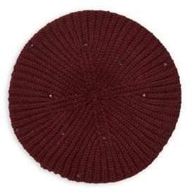 Lauren Ralph Lauren Embellished Knit Beret