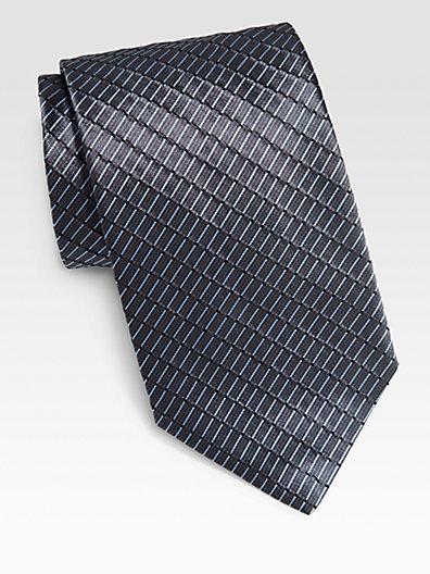Armani Collezioni Broken Stripe Silk Tie