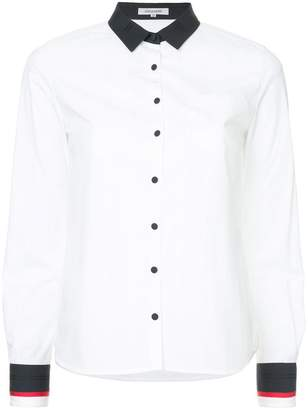 GUILD PRIME contrast trim shirt