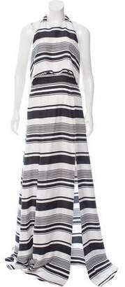 Peter Som Striped Silk Dress