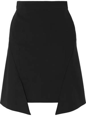 Alexander McQueen Asymmetric Jersey Mini Skirt - Black