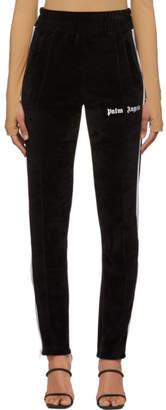 Palm Angels Black Velour Track Lounge Pants