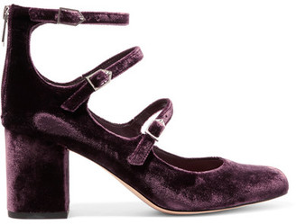 Sam Edelman - Calista Velvet Pumps - Plum $150 thestylecure.com