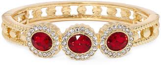 MONET JEWELRY Monet Red Crystal Gold-Tone Bangle Bracelet