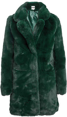 Apparis Sophie Emerald Faux Fur Coat