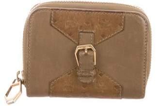 MCM Logo-Embossed Zip Wallet gold Logo-Embossed Zip Wallet