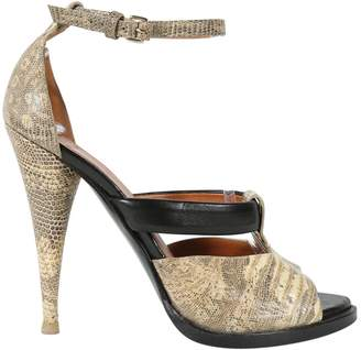 Givenchy Beige Lizard Sandals