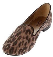 LOFT Leopard Print Andrea Smoking Loafers