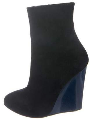 Giuseppe Zanotti Suede Wedge Ankle Booties