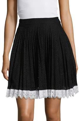 Antonio Berardi Women's Eyelet Pleated Skirt