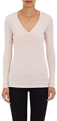 Barneys New York Women's V-Neck Long-Sleeve T-Shirt - Blush