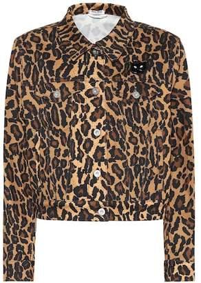 Miu Miu Leopard print stretch-cotton jacket