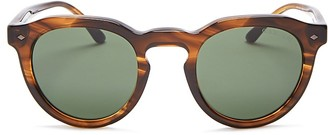 Giorgio Armani Round Keyhole Sunglasses, 47mm $340 thestylecure.com