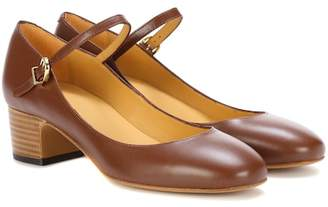 A.P.C. Victoria leather Mary Jane pumps