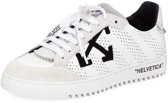 Off-White Off White Men's 2.0 Perforated Leather & Suede Low-Top Sneakers, White