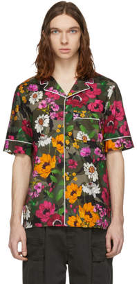 Valentino Green Flower Pyjama Shirt
