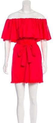 N. Nicholas Off-The-Shoulder Mini Dress