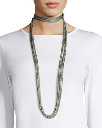 Lafayette 148 New York Tea Long Mesh Necklace, 18""