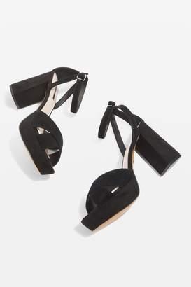 Topshop Leah Cross Strap Platform Heel Sandals
