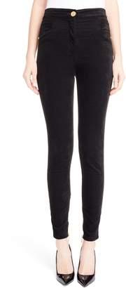 Balmain Skinny Velour Pants