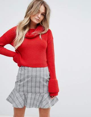 Missguided Open Stitch Roll Neck Sweater