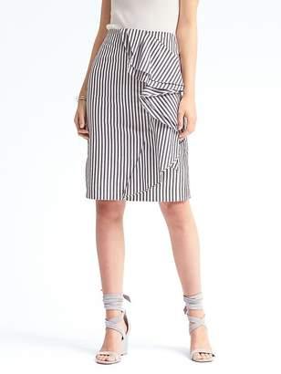 Ruffle Stripe Pencil Skirt $78 thestylecure.com