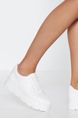 Nasty Gal Make a Break For It Platform Sneaker
