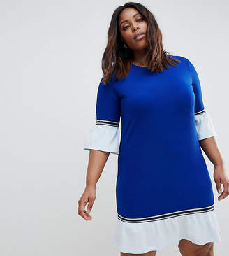 Junarose Sporty Shift Dress With Frill