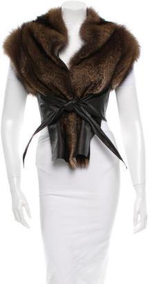 Rick Owens Fur Vest $3,145 thestylecure.com