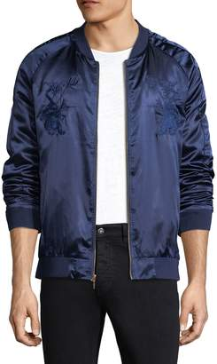 Standard Issue Men's Satin Embroidery Bomber