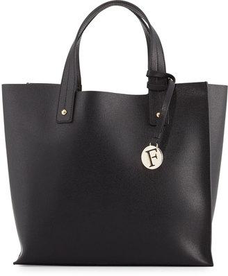 Furla Musa Medium Leather Tote Bag, Onyx $215 thestylecure.com