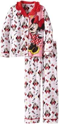 Komar Kids Disney's Minnie Mouse Button Front Pajamas for girls (4/5)