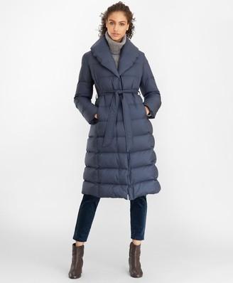 Brooks Brothers Shawl-Collar Down-Fill Puffer Coat