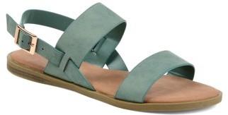 Brinley Co. Womens Dual Strap Open-toe Sandal