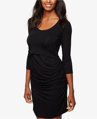 A Pea In The Pod Tiered Nursing Dress $86 thestylecure.com