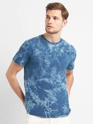 Indigo Print Crewneck Pocket T-Shirt