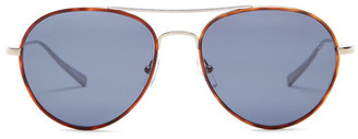 Ermenegildo Zegna Women&s Titanium Aviator Sunglasses $410 thestylecure.com