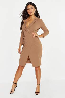 boohoo Pocket Detail Blazer Dress