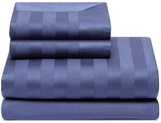 Lane Crawford Stripe duvet king size set - Indigo