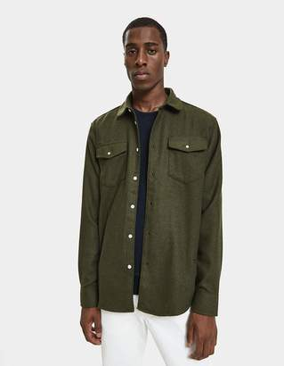 Soulland Tom Western Shirt in Green