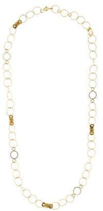 18K Long Circle-Link Chain Necklace