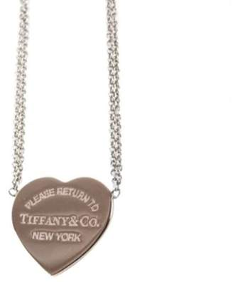 Tiffany & Co. & Co. Return to Heart Pendant Rubedo Metal and 925 Sterling Silver Necklace