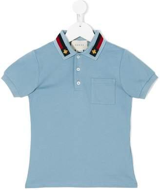 Gucci Kids bee patch polo shirt