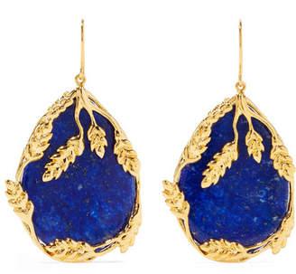Aurelie Bidermann Françoise Gold-plated Lapis Lazuli Earrings - Blue