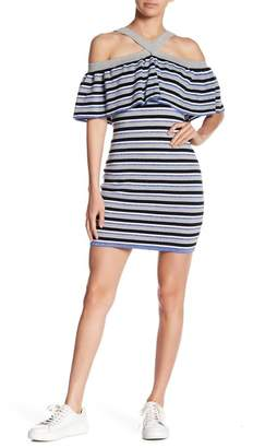 Endless Rose Striped Ribbed Bodycon Dress